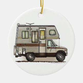 ClassC Camper RV Magnets Round Ceramic Ornament