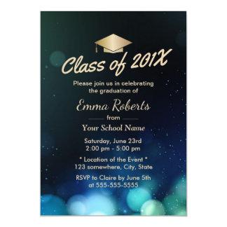 Classe de l'obtention du diplôme 2017 moderne de carton d'invitation  12,7 cm x 17,78 cm