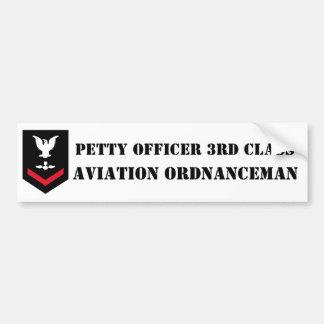Classe d'officier marinier troisième - ao - adhési autocollant de voiture