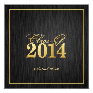 Classe élégante de or de l invitation 2014 d obt
