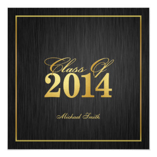 "Classe élégante de ""or"" de l'invitation 2014 carton d'invitation  13,33 cm"