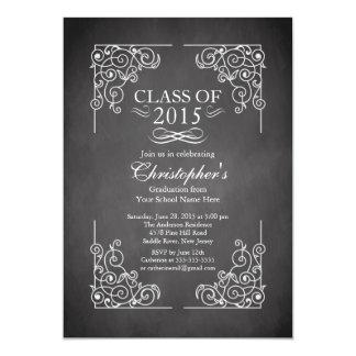 Classe moderne de l'invitation 2015 de fête de carton d'invitation  12,7 cm x 17,78 cm