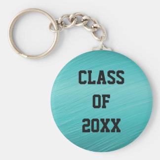 Classe turquoise de porte - clé de l'obtention du porte-clé rond
