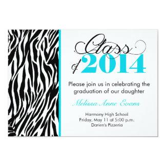 Classe turquoise de zèbre de l'invitation 2014