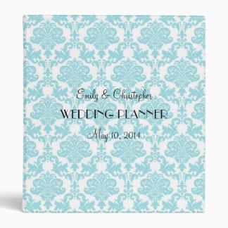 Classeur bleu de Tiffany mariage damassé