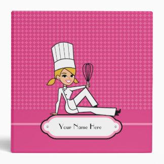 Classeur blond de recette de fille de Baker