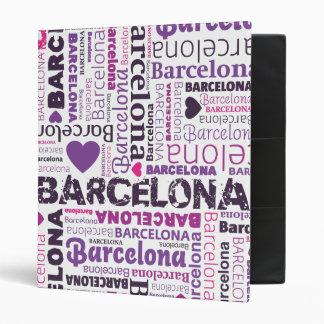Classeur d album photos de typographie de Barcelon