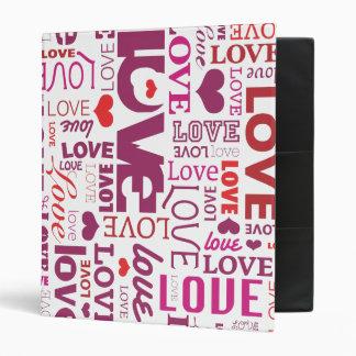 Classeur d'album photos de typographie d'amour et