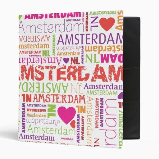 Classeur d'album photos de typographie d'Amsterdam