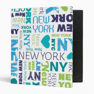 Classeur d'album photos de typographie de New York