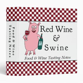Classeur de coutume de vin rouge et de porcs