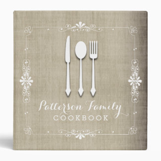 Classeur de livre de cuisine de recette de famille