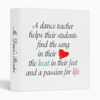 Classeur de professeur de danse
