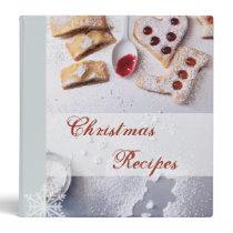 Classeur de recette de Noël classeur
