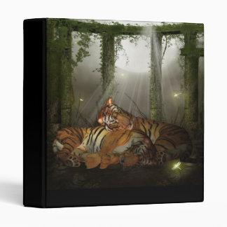 Classeur de tigre avec des tigres dans les ruines