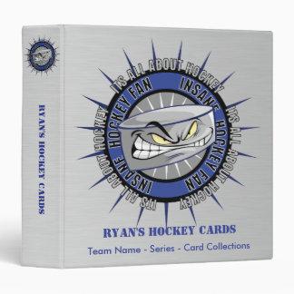 Classeur fait sur commande de carte d'hockey