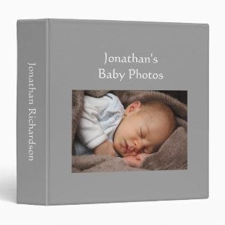 Classeur fait sur commande gris de photo d'album p