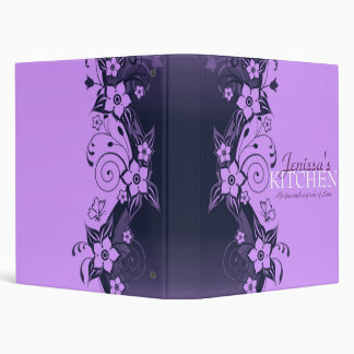 Classeur floral violet de recette