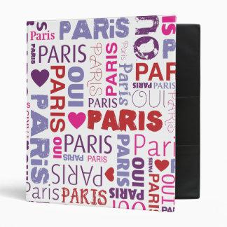 Classeur français d'album photos de typographie de