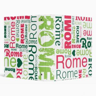 Classeur italien d'album photos de typographie de