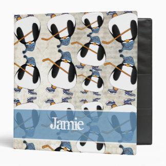 Classeur mignon et drôle de motif de pingouin