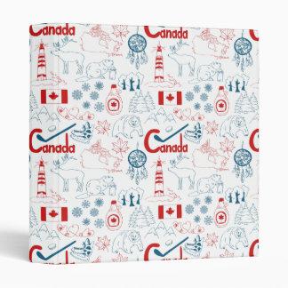 Classeur Motif de symboles du Canada  