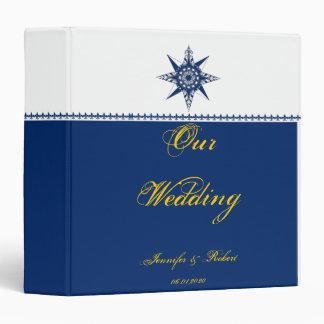 Classeur nautique de mariage de jaune de marine de