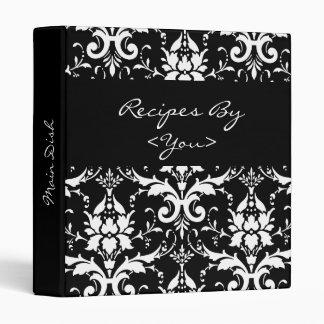 Classeur noir et blanc de livre de cuisinier de re
