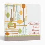 Classeur nuptiale de recette de livre de cuisine d