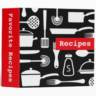 Classeur organisateur modernes de recette de cuisi
