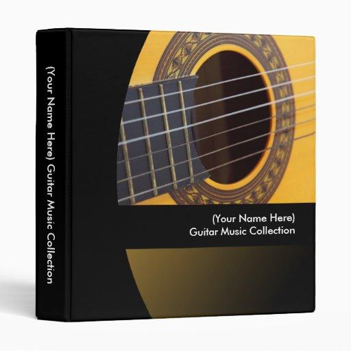 Classeur personnalisé de musique de guitare