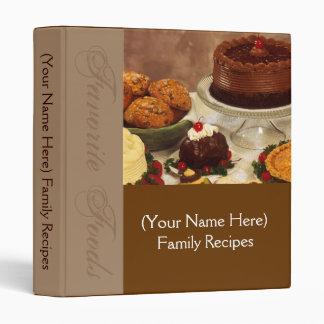 Classeur personnalisé de recette