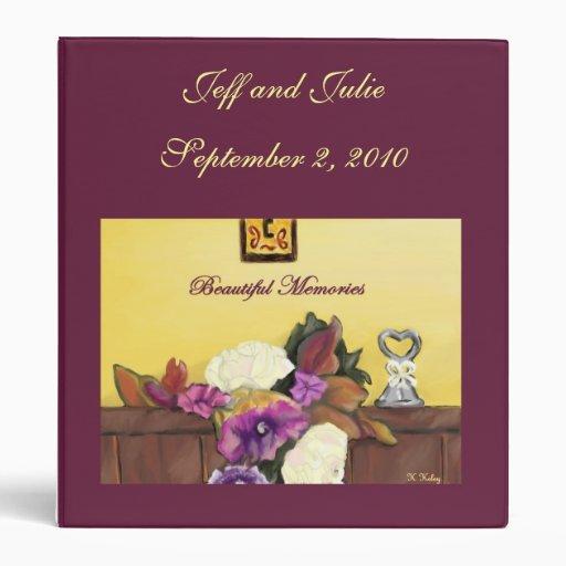 Classeur personnalisé par mariage d'automne