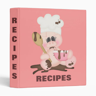 Classeur porcin de recette de chef