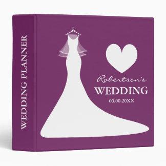 Classeur pourpre de wedding planner ou album