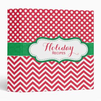 Classeur rouge et vert de recette de Noël de