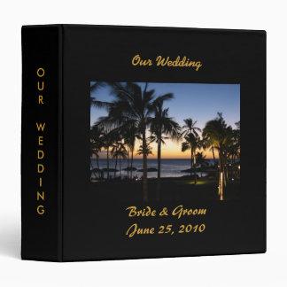 Classeur tropical d'album de mariage de destinatio