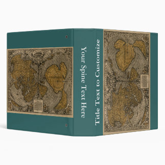 Classic 1531 Antique World Map by Oronce Fine 3 Ring Binders