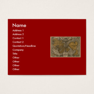 Classic 1531 Antique World Map by Oronce Fine Business Card