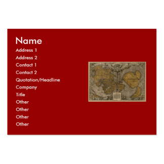 Classic 1531 Antique World Map by Oronce Fine Large Business Card