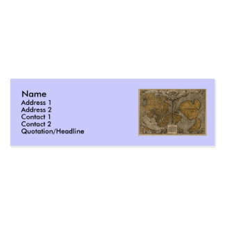 Classic 1531 Antique World Map by Oronce Fine Mini Business Card