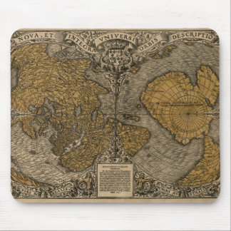 Classic 1531 Antique World Map by Oronce Fine Mouse Pad