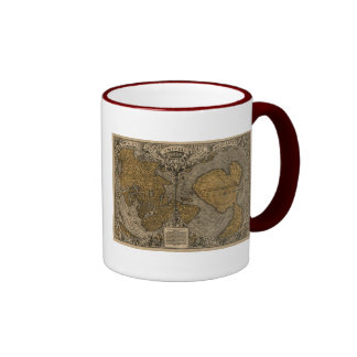 Classic 1531 Antique World Map by Oronce Fine Coffee Mug