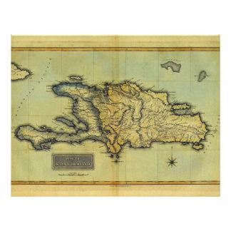 Classic 1823 Antiquarian Map of Hispaniola Haiti Flyer Design