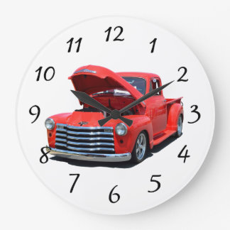 Classic 1950's Chevrolet Pickup Truck Large Clock