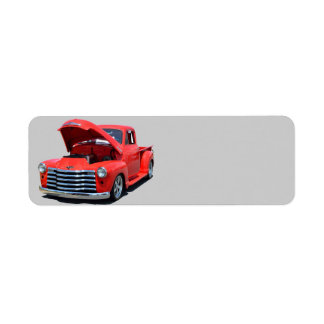 Classic 1950's Chevrolet Pickup Truck Return Address Label