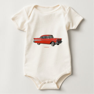 Classic_1957_Chevrolet_Red_texturizer Baby Bodysuit