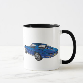 Classic 1963 Blue Corvette DAD Coffee Mug