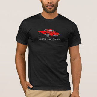 Classic 1963 Red Corvette Design T-Shirt