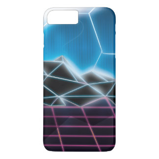 Classic 1980s Futuristic Neon Pattern iPhone 7 Plus Case